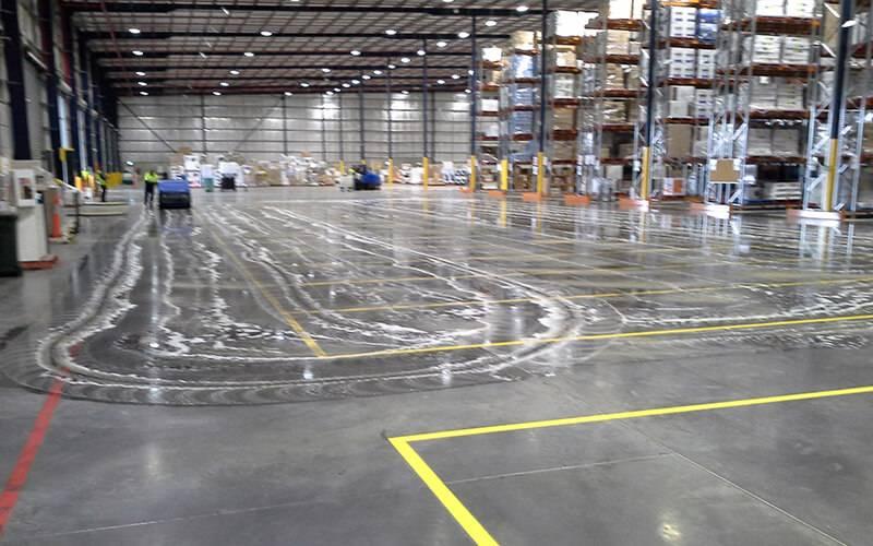 floor scrubbing massive factory floor. Black Bedroom Furniture Sets. Home Design Ideas