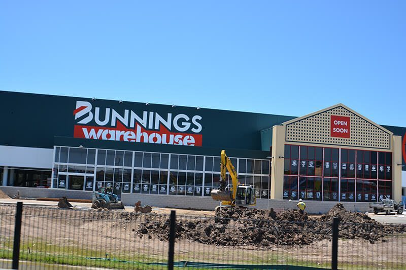 Sweeping at Bunnings hardware Brisbane