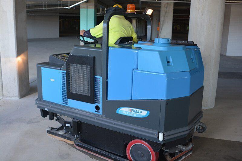 Scrubbing Machine Mt Gravatt Shopping Centre Brisbane