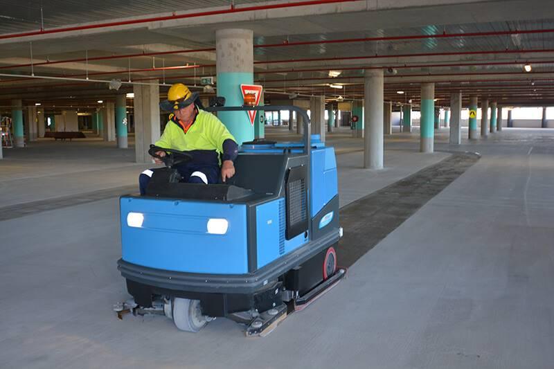 Scrubbing Machine In Action Brisbane